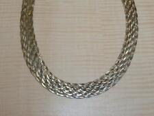 Sterling Silver Jewelry Braided Herringbone Woven Chain Necklace 18