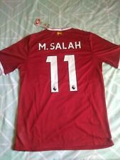 New Balance Mohamed Salah #11 Liverpool Red 2017/18 Home Player Jersey