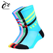 Mens Riding Running Hiking Cycling Socks, Summer Spring Breathable Compression