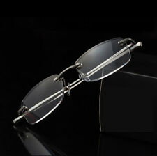 Mens Metal Rimless Reading Glasses Retro Readers 1.0 1.5 2.0 2.5 3.0 3.5 KFA384