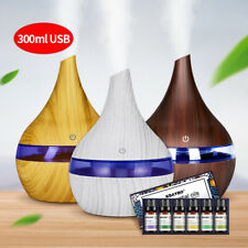 300ml USB Aromatherap Ultrasonic Humidifier cool mist LED Essential Oil Diffuser