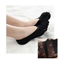 3 Pairs Womens Ankle Five Finger Toe Socks No Show Invisible Socks Hosiery