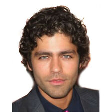 Short Curly Wigs for Men Pixie Cut Synthetic Kinky Curly Hair Male Wig Toupee