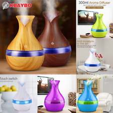 USB electric Aroma Essential Oil Diffuser Ultrasonic Air Humidifier Wood in Home
