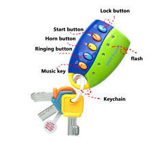Car Key Toy Remote Control Educational Toy Key for Kids Baby Toddle NO Battery