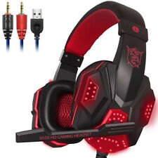 LED Lights PS4 PC Xbox one Gaming Headset for Stereo Surround Sound Noise