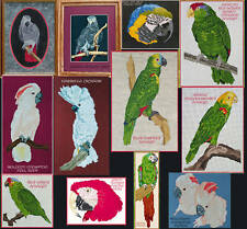 PARROT COUNTED CROSS-STITCH PATTERNS