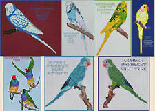 PARAKEET, BUDGIE, FINCH COUNTED CROSS STITCH PATTERNS