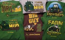 New JOHN DEERE Boys Thermal Shirt with Beanie--5/6 or 7