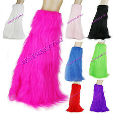Sexy Faux Fur Boot Covers Leg Warmers Exotic Dancer
