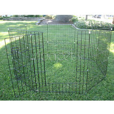 Walk-in Exercise 8 Pen Dog Fence Crate Cage Kennel 5 sizes