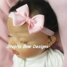 SOFT PINK LIGHT PINK DAINTY HAIR BOW HEADBAND INFANT BABY EASTER SPRING So Cute
