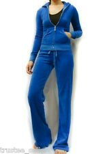 Juicy Couture Blue Soft Velour Hoodie  Pant Tracksuit
