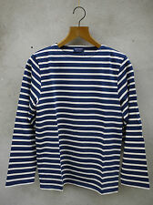 MINQUIERS I0 STRIPED BRETON SHIRT Navy & Cream by SAINT JAMES