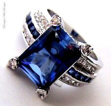 Beauty for Ashes Midnight Cocktail Sapphire Dark Blue Clear Tabernacle CZ Ring