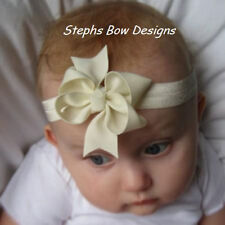 IVORY DAINTY BOUTIQUE HAIR BOW SOFT HEADBAND EASTER