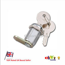 Cam Locks 7 Sizes - Locker, Cabinet, Drawer, Mailbox, Door - 2 Keys Per Lock