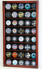 40 Hockey Puck NHL Display Case Cabinet Holder Rack UV
