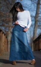 LONG DENIM SKIRT - WOMENS DENIM SKIRTS - MODEST JEANS