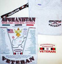 AFGHANISTAN WAR:OPERATION ENDURING FREEDOM U.S. MILITARY VETERAN  2-SIDED SHIRT