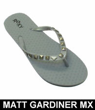 NEW LADIES ROXY BRITANY CHARCOAL GREY FLIP FLOPS WOMENS GIRLS BEACH SANDALS