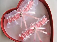 Free Ship New Sexy Baby Pink White Wedding Garters Prom