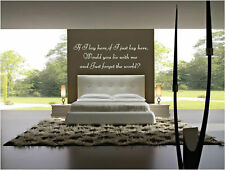 IF I LAY HERE SNOW PATROL WALL STICKER ART DECAL QUOTE