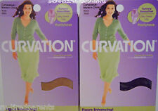 CURVATION – FIGURE ENHANCING PANTYHOSE - PLUS SZ - NIB