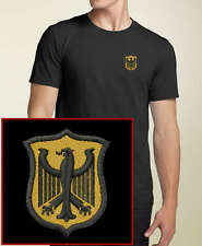 German Crest / Germany EMBROIDERED Black T-Shirt