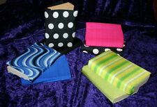 Lycra stretch BOOK COVERS X2 UNIQUE stocking filler!