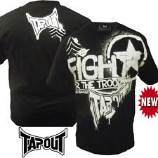 New Mens Tapout For The Troops American Arrogant UFC MMA Cage Fighter Tee Black