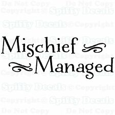 MISCHIEF MANAGED HARRY POTTER QUOTE Vinyl Wall Decal Lettering Sticker