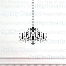 CHANDELIER CHAIN CRYSTAL Decoration Art Quote Vinyl Wall Decal Sticker