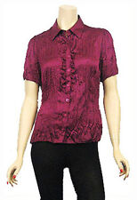 Women's Top Quality Creased Effect Satin Blouse.