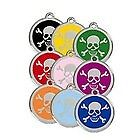 Red Dingo SKULL & CROSSBONES Engraved Dog ID Tag ~ Pick Your Color ~ FREE SHIP