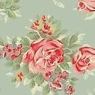 MTM Roman Blind using Cath Kidston English Rose duck egg cord lock & interlined