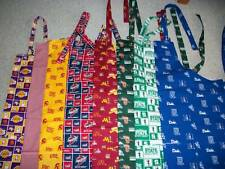 APRONS COLLEGE, BASKETBALL, JOHN DEERE, CARS AND ASSORTED PATTERNS
