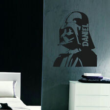 LARGE PERSONALISED DARTH VADER STAR WARS BEDROOM WALL  STENCIL TRANSFER  DECAL