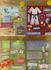 K&COMPANY Assorted STICKERS 3D Choice Scrapbooking WORDS BEACH BABY FAMILY&more