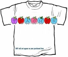T-shirt - Your Name in -- COLOR APPLES, an apple a day