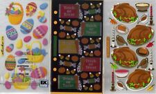 STICKO  Assorted STICKERS Choice Scrapbooking HOLIDAYS EASTER HALLOWEEN & MORE