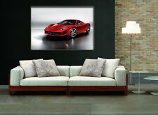 Red Ferrari Gallery Wrapped Canvas FRAMED Choice Of Wall Clock