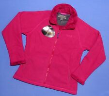 LADIES FUR LINED FULL ZIP FLEECE JACKET CERISE SIZES 10-20 RRP £48