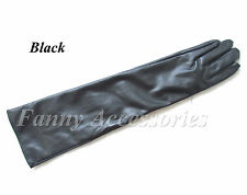 Ladies Opera Evening Party Faux Leather PU Over Elbow Long Gloves 20""