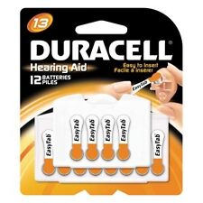 Duracell Hearing Aid Battery, Zinc Air, Size 13