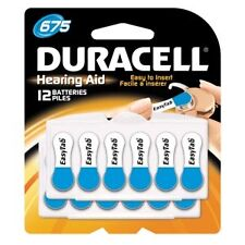 Duracell Hearing Aid Battery, Zinc Air, Size 675