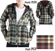 Dickies Plaid Shirt Jacket Women Hooded Thermal Lined Shirts FJ350 Plaid XS-2XL