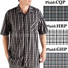 Dickies Shirts Mens Short Sleeve Plaid Camp Shirt Button front WS518  M to 3XL