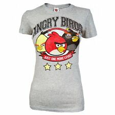Womens Angry Birds Just One More Level Grey T Shirt
