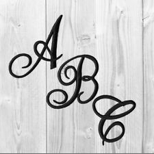 Embroidered Iron on Script Letters-Sold Separately in White, Black Or Red
